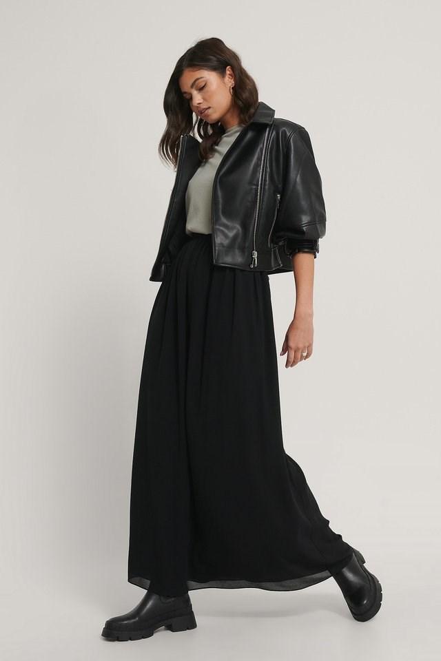 Black Maxi Sheer Skirt