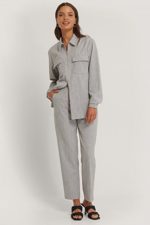 Zip Overshirt Outfit.