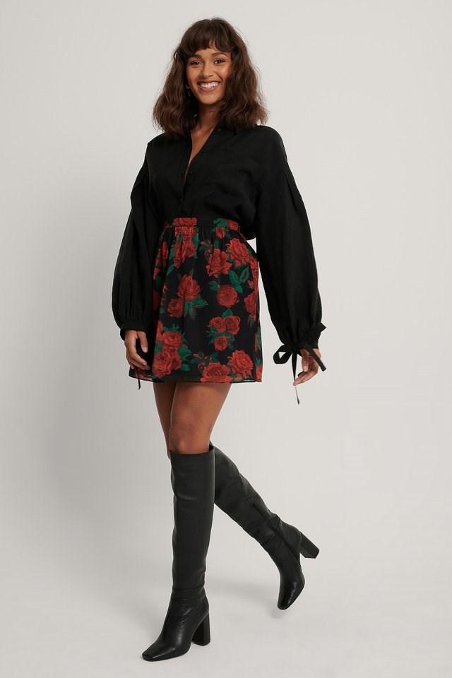 Mini Sheer Skirt Outfit.