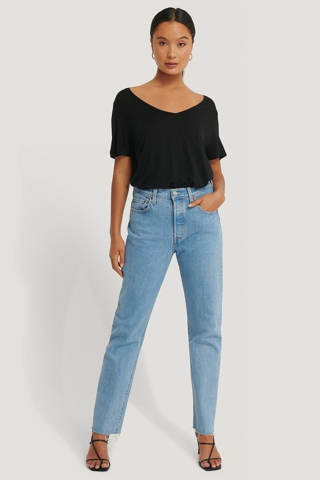 2-Pack V-Neck Tee Outfit.
