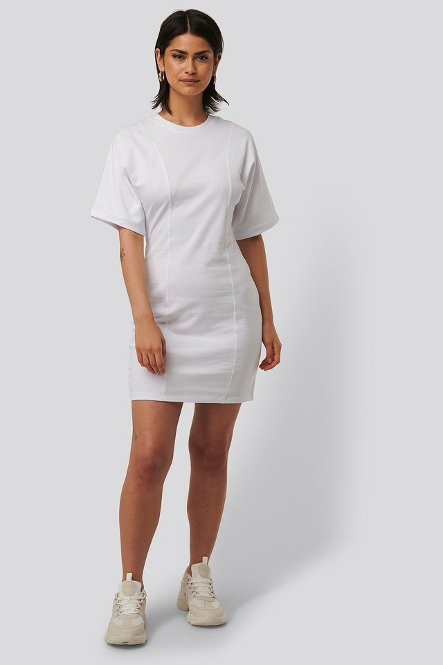 Fitted T-shirt Dress Outfit.