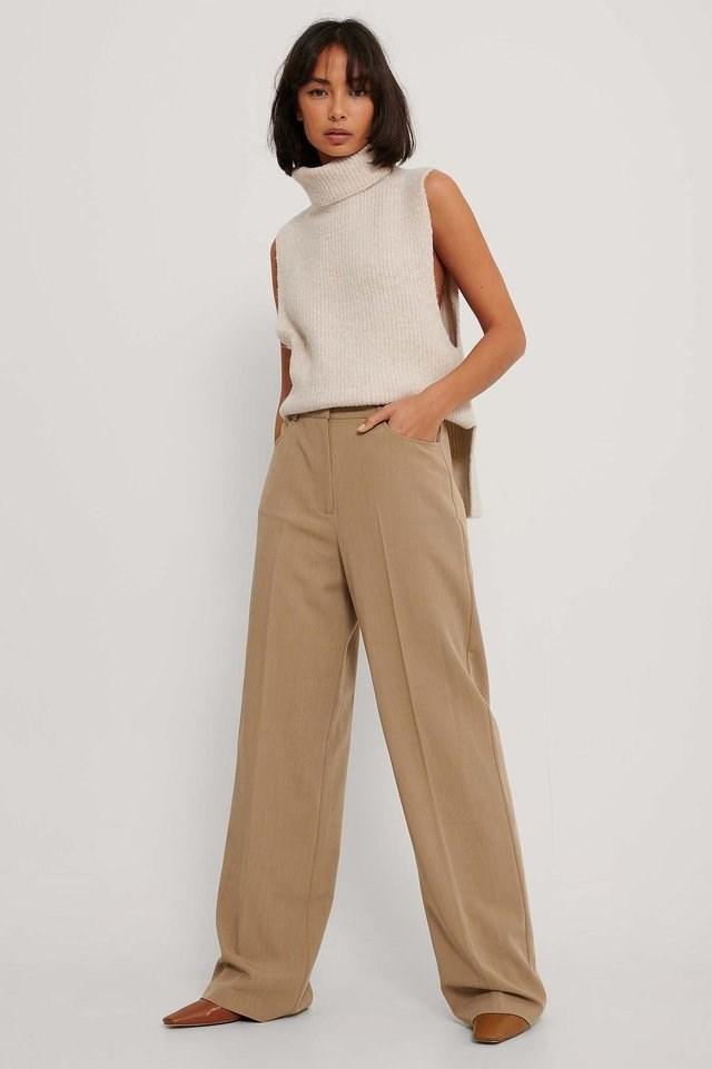 Wide Leg Suit Pants Outfit.