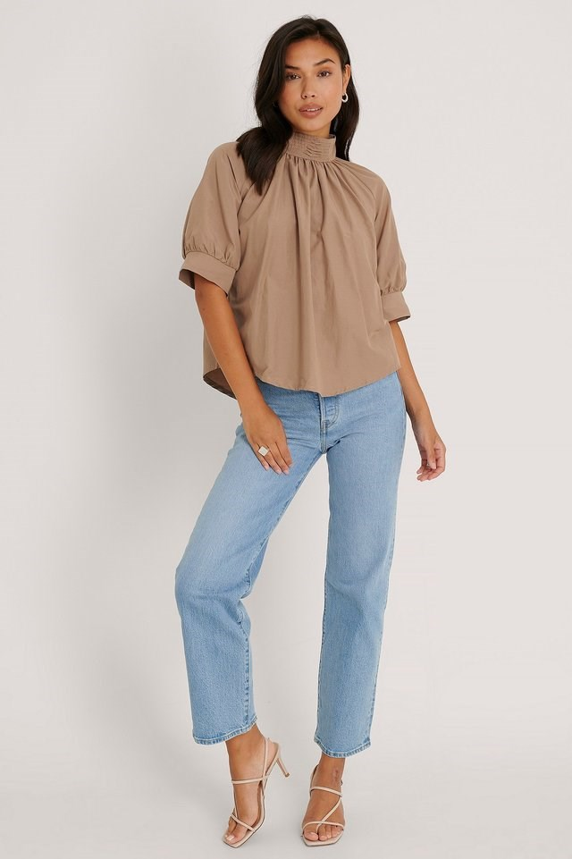 Pearl Detail Blouse Outfit.