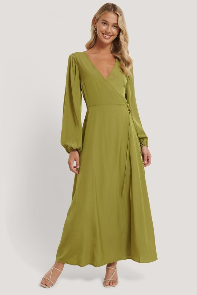 Wrap Around Maxi Dress Outfit.
