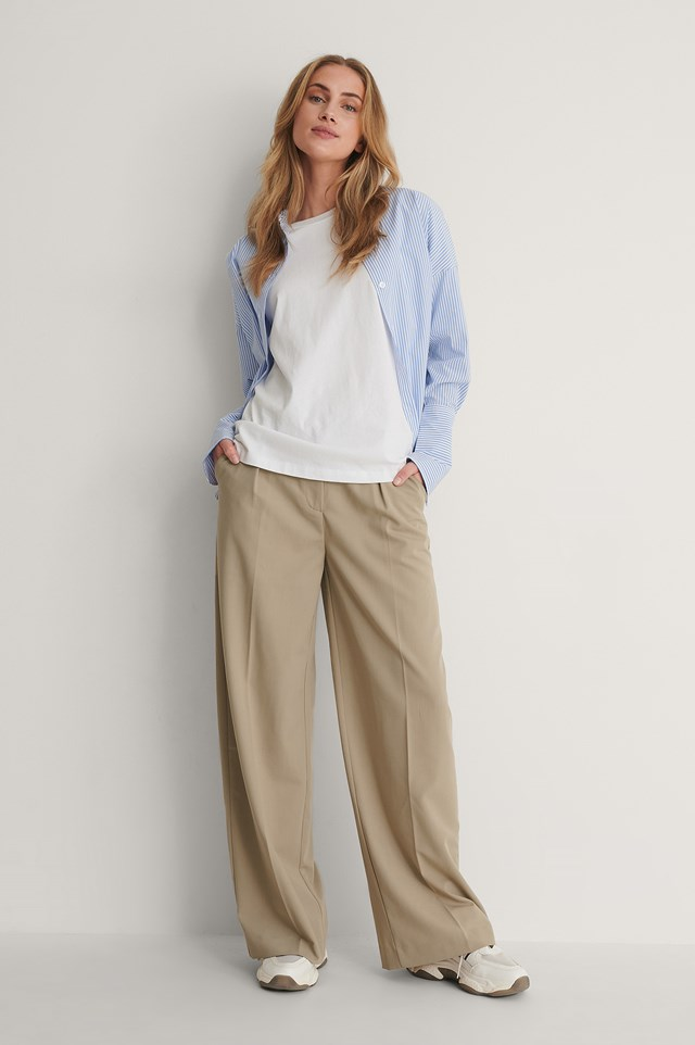 Wide Cuff Shirt Outfit.