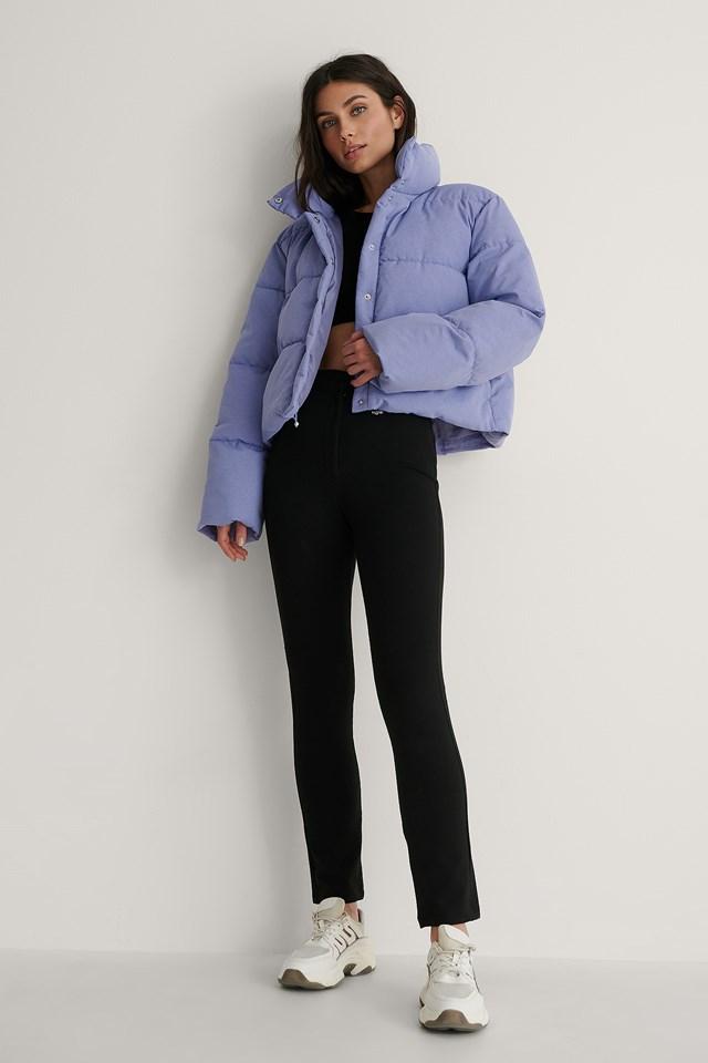 Purple Recycled Melange Padded Jacket