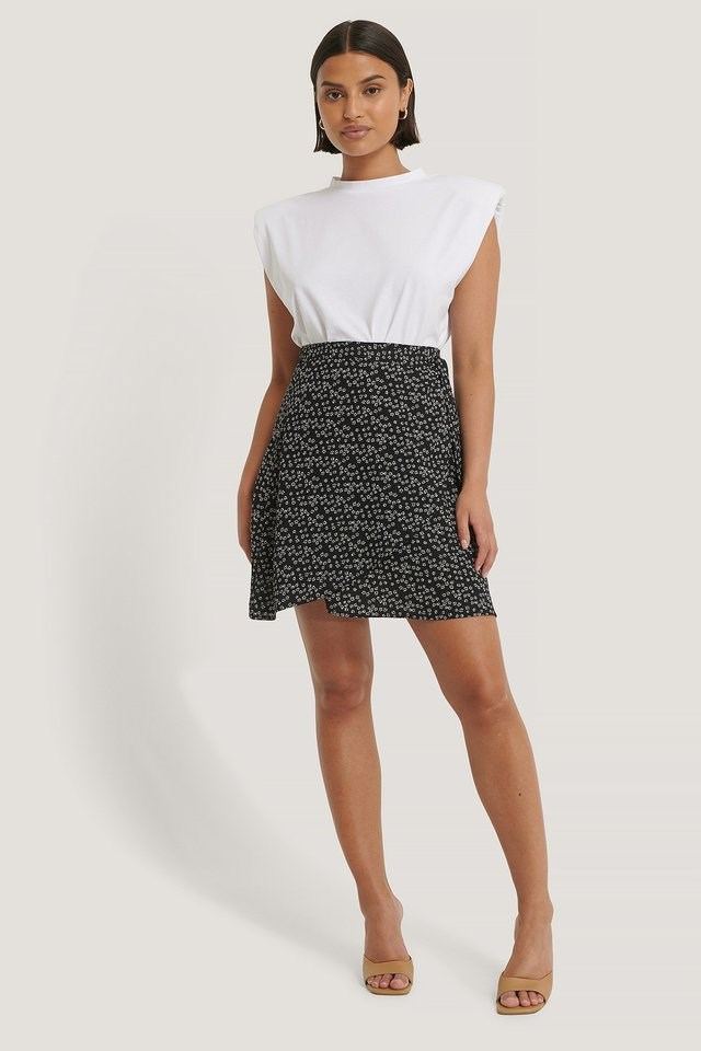 Mini Wrapped Skirt Outfit.