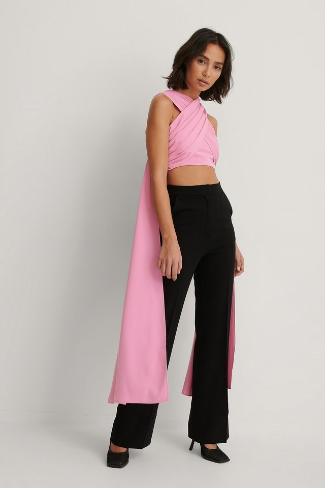 Overlapped Maxi Top Outfit.