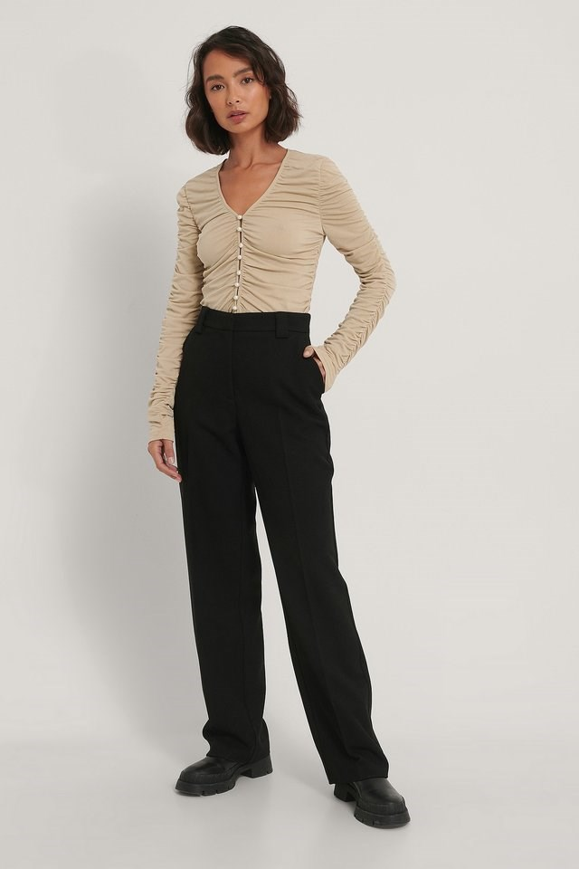 Ruched Jersey Top Outfit.