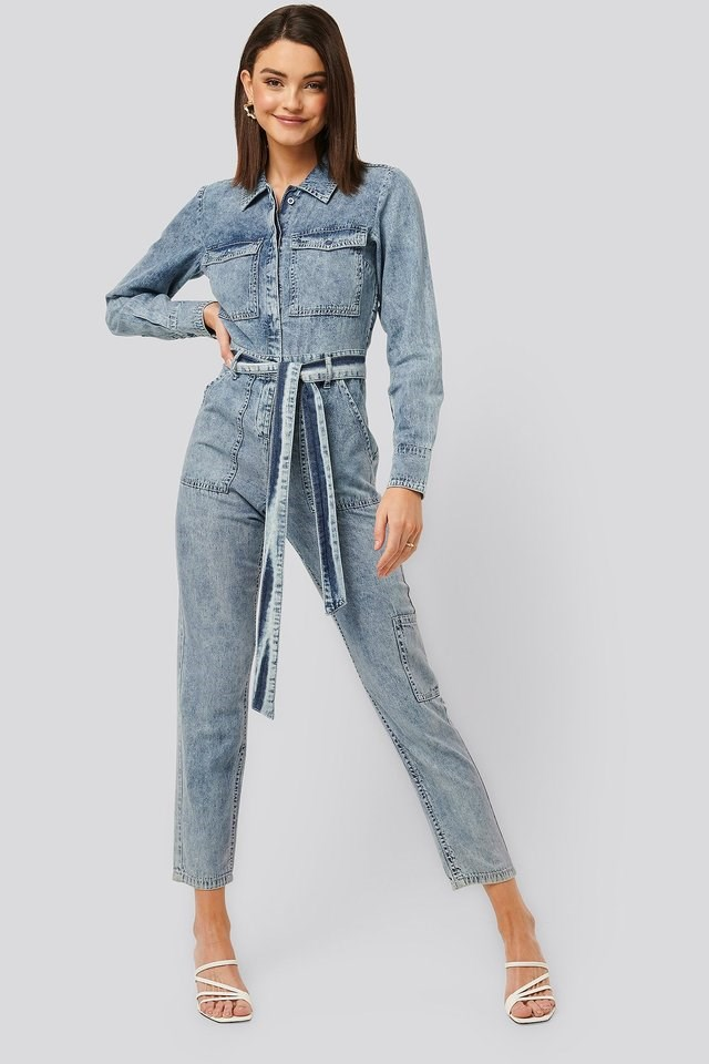 Soft Denim Jumpsuit Outfit.