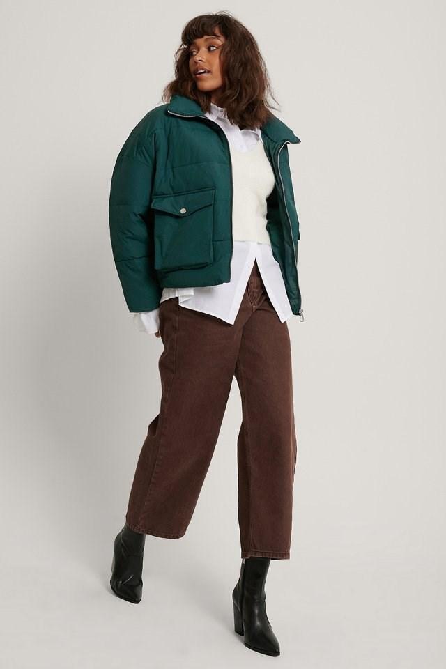 Big Pocket Padded Short Jacket.