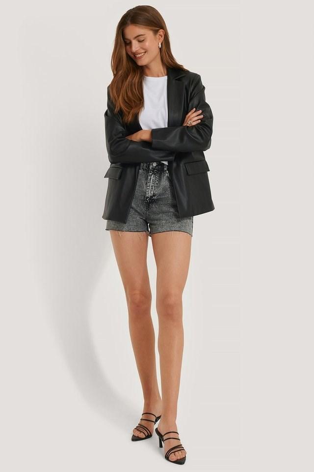 High Waist Short Denim Shorts Outfit.