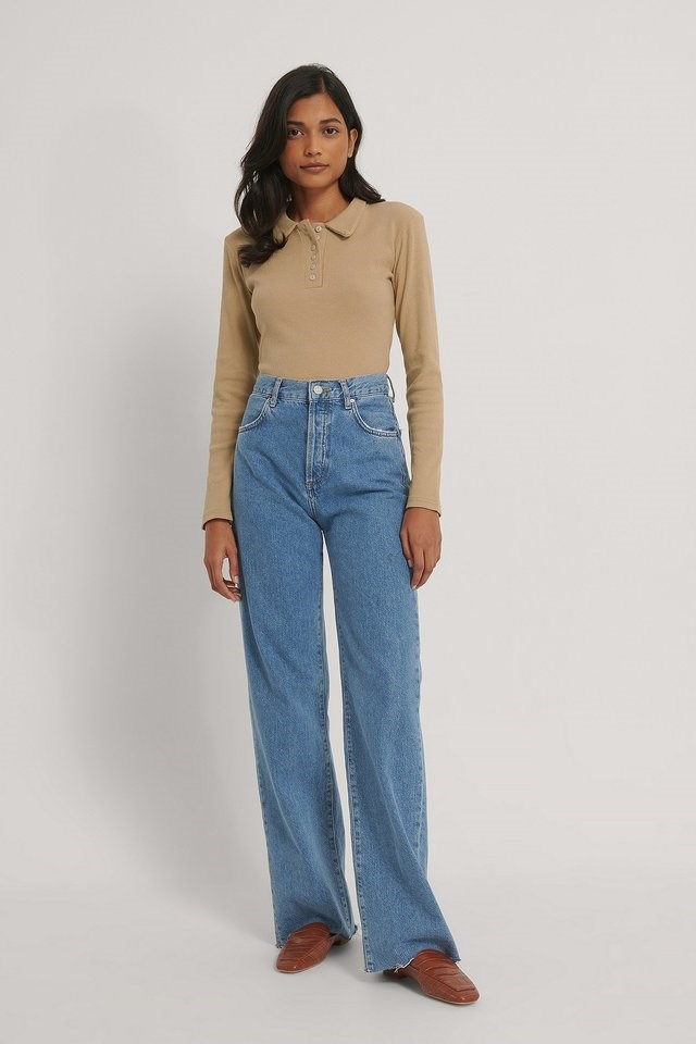Polo Neck Top Outfit.
