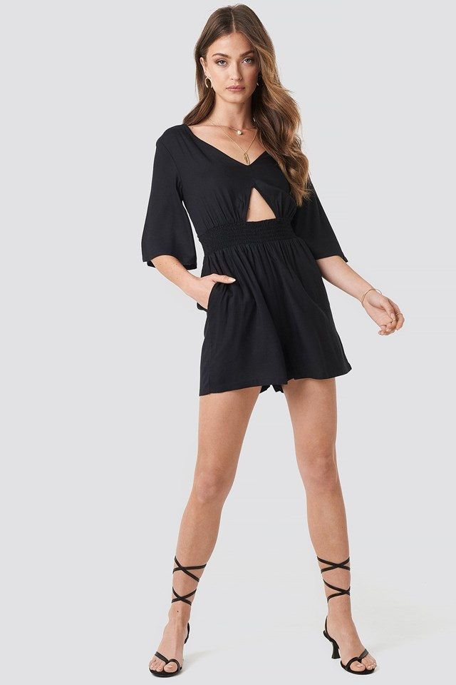 Cut Out Detail Playsuit Outfit.
