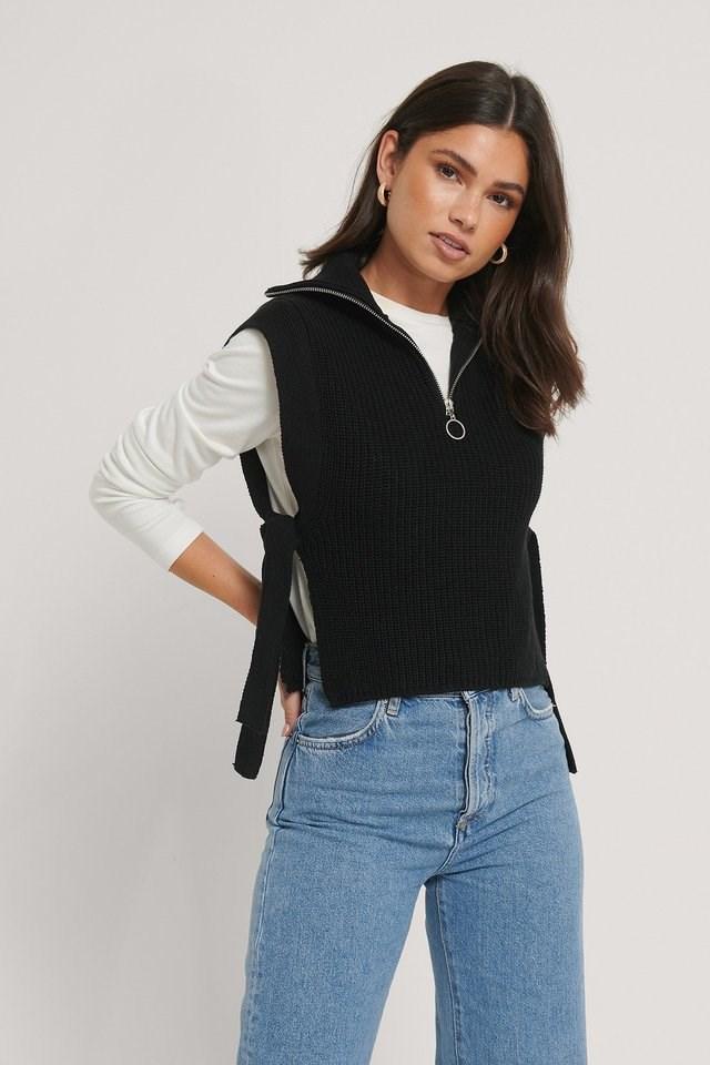 Zip Turtleneck Bib Outfit.