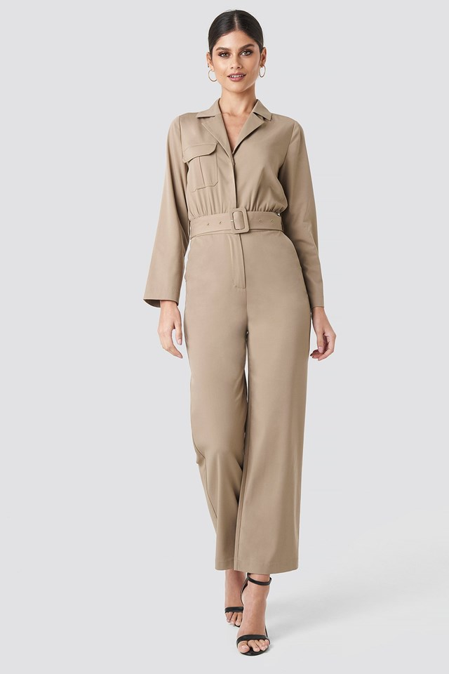 Front Pocket Jumpsuit Outfit.