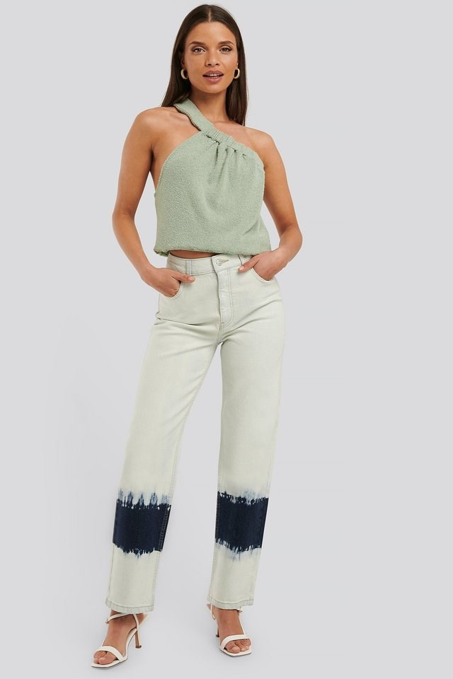 Terry Elastic Asymmetric Top Outfit.