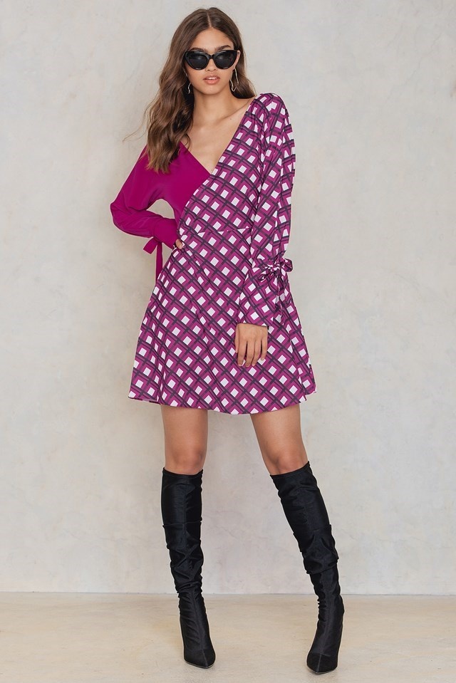 Overlap Tie Sleeve Dress Outfit