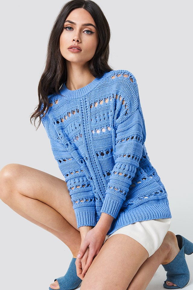 Warm Knitted Sweater Outfit