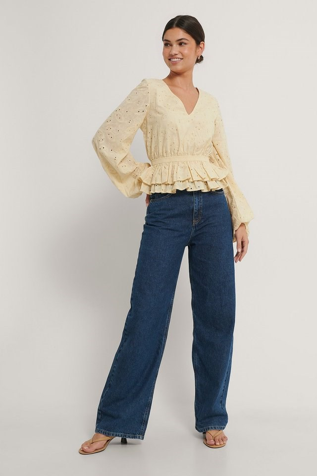 Anglaise Open Back Top Outfit.