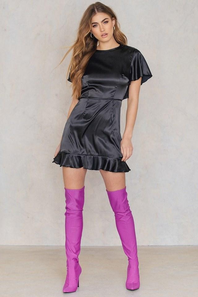 Ruffle Mini Dress Outfit