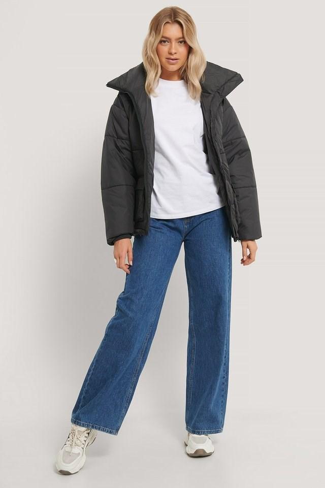 Whitney Puffer Jacket Black.