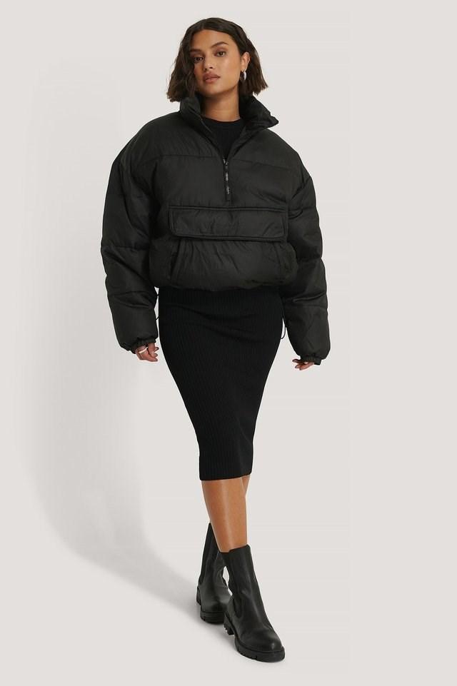 Anorak Padded Jacket Black.