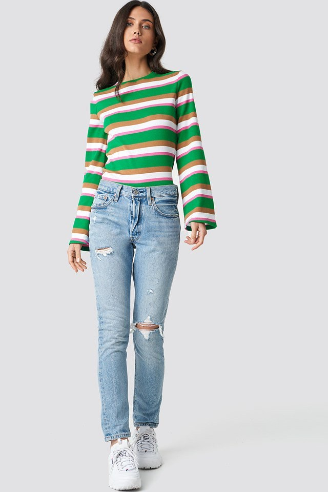 Top with Stripes Details