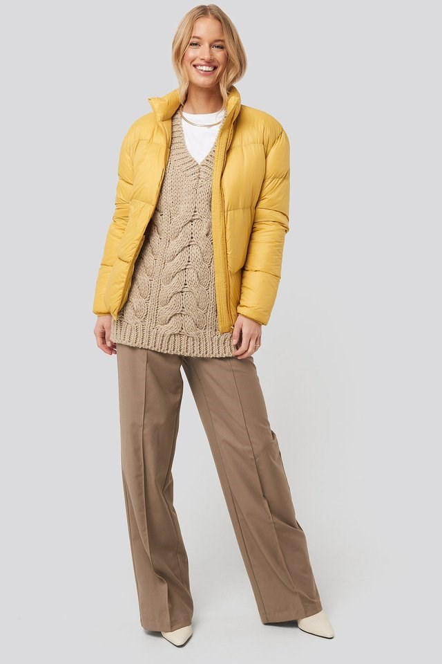 Pretty Puff Jacket Yellow.