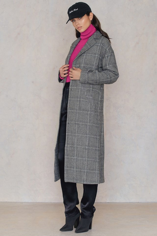 Checked Autumn/ Winter Coat
