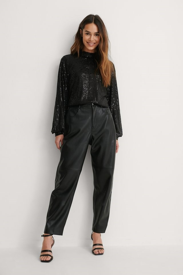 Sequin Blouse Outfit!
