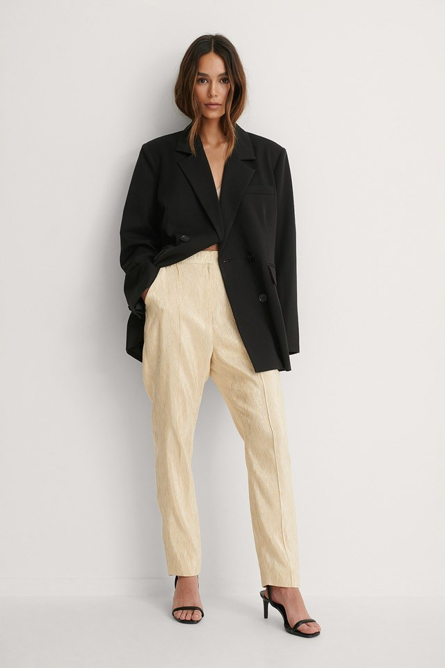Shiny Straight Suit Pants Outfit!