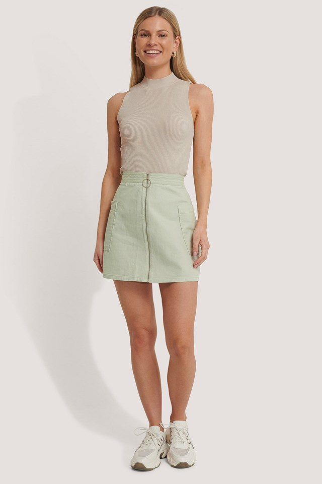 Cargo Mini Skirt Outfit.