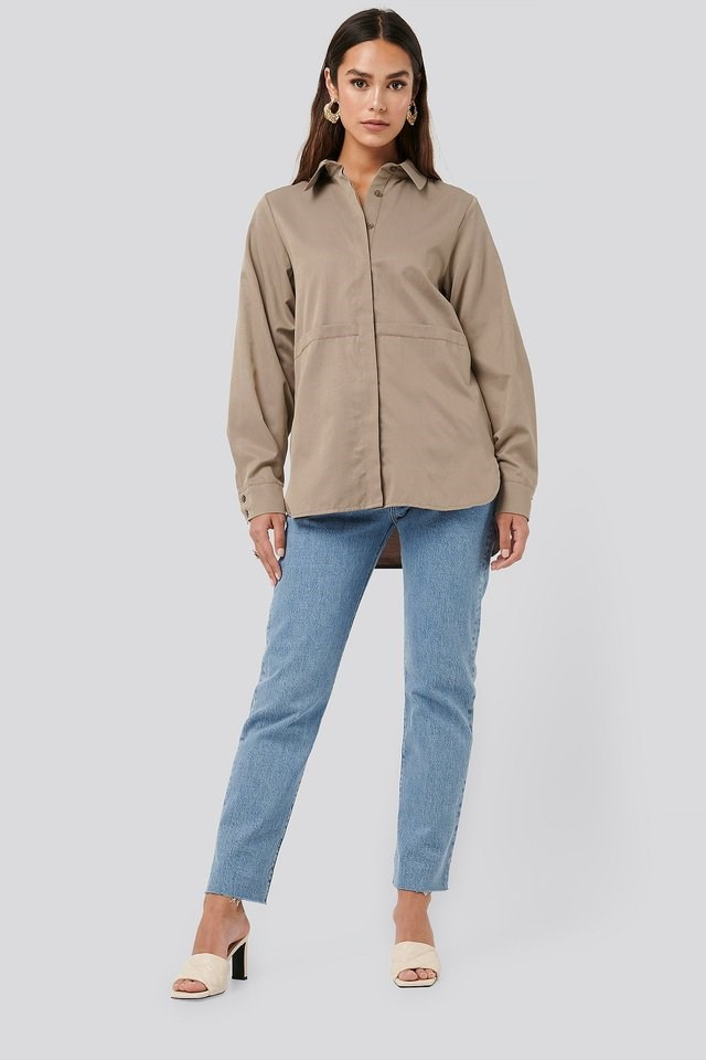 Fold Front Shirt Outfit.