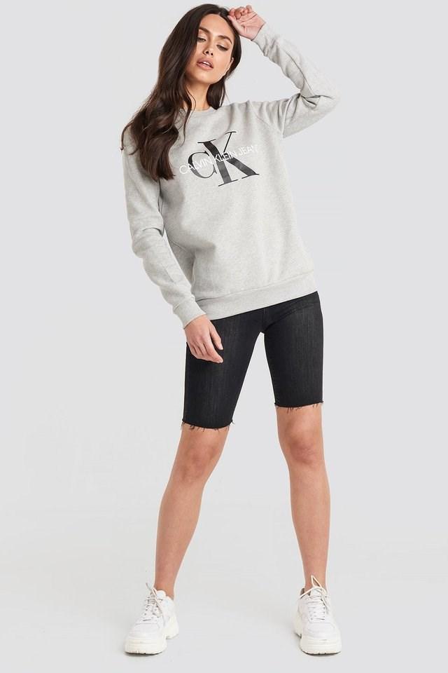 Core Monogram Logo Sweatshirt Outfit.