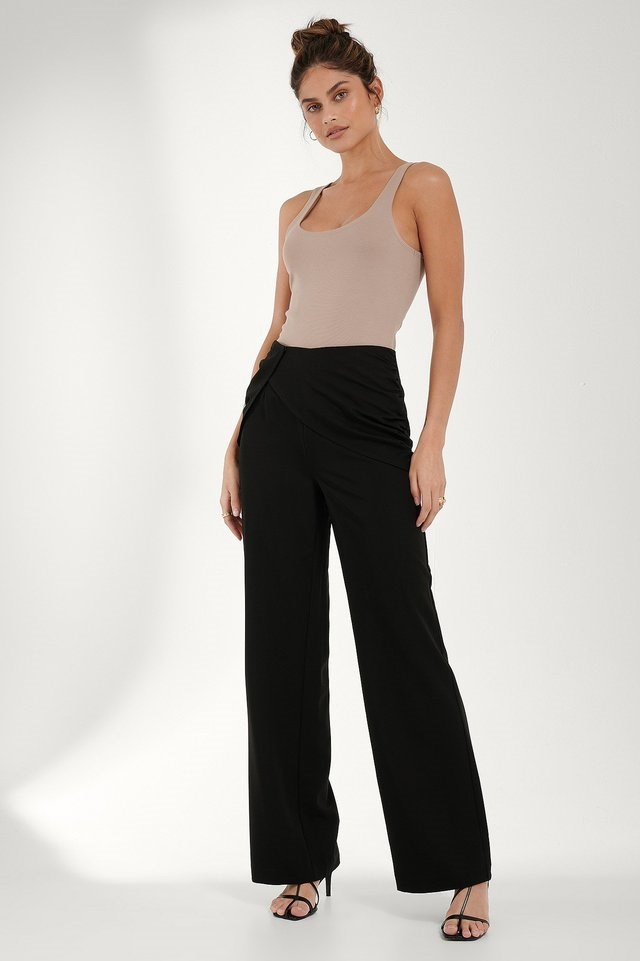Draped Detail Pants Outfit.