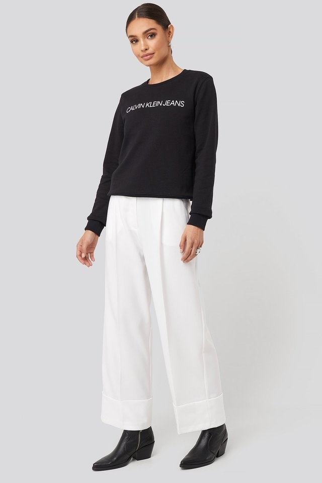 Institutional Core Logo Sweater Outfit.