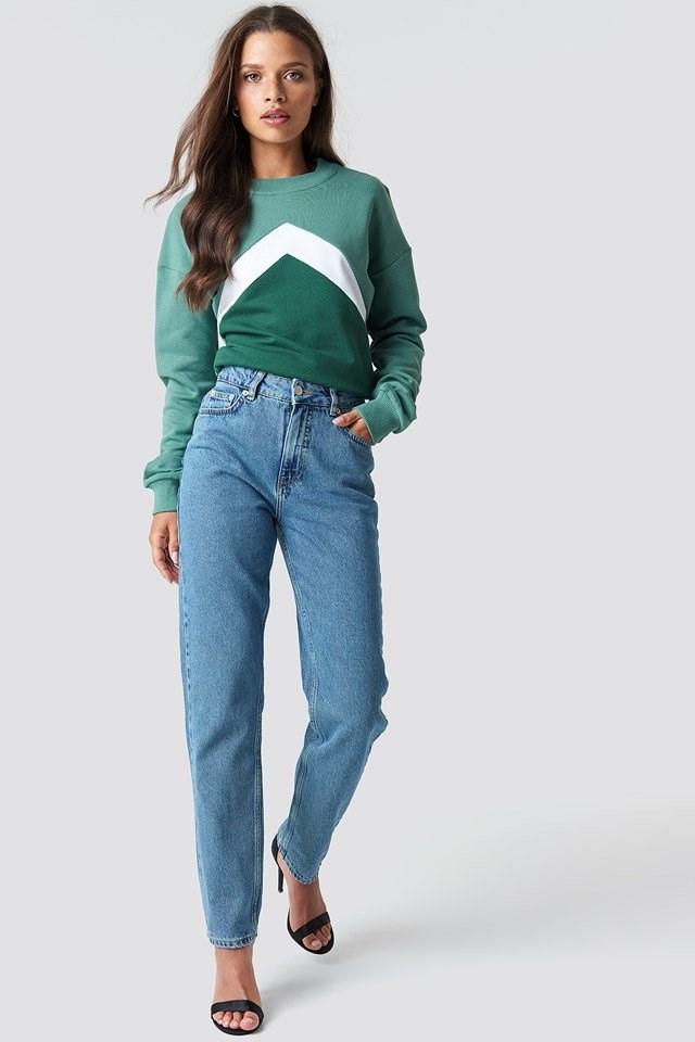 Blocked Chest Sweatshirt