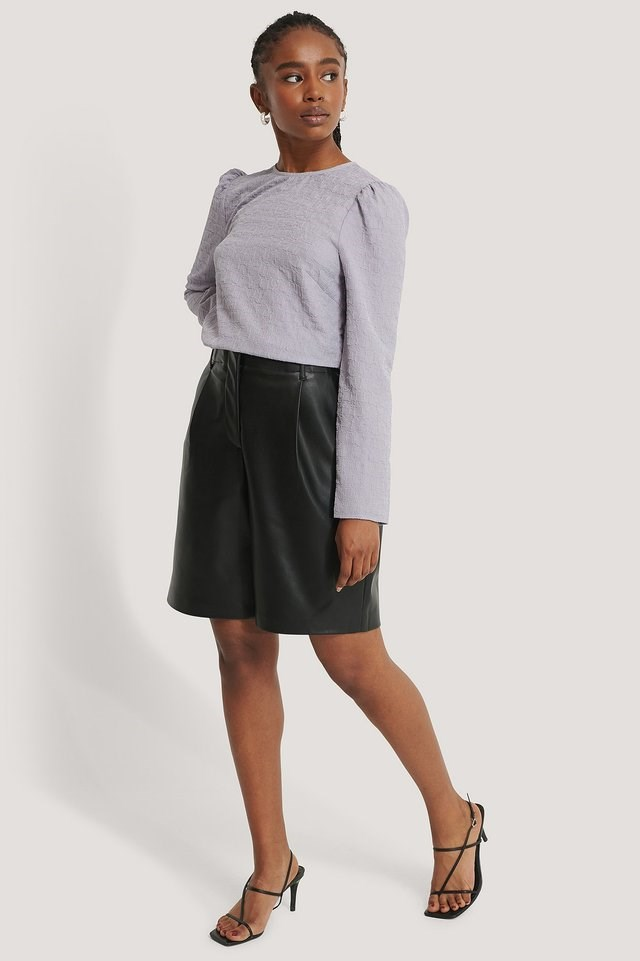 Puff Sleeve Top Outfit.