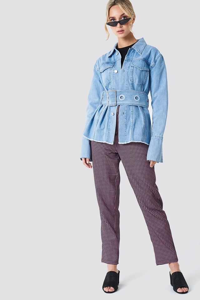 Belted Denim Jacket Outfit