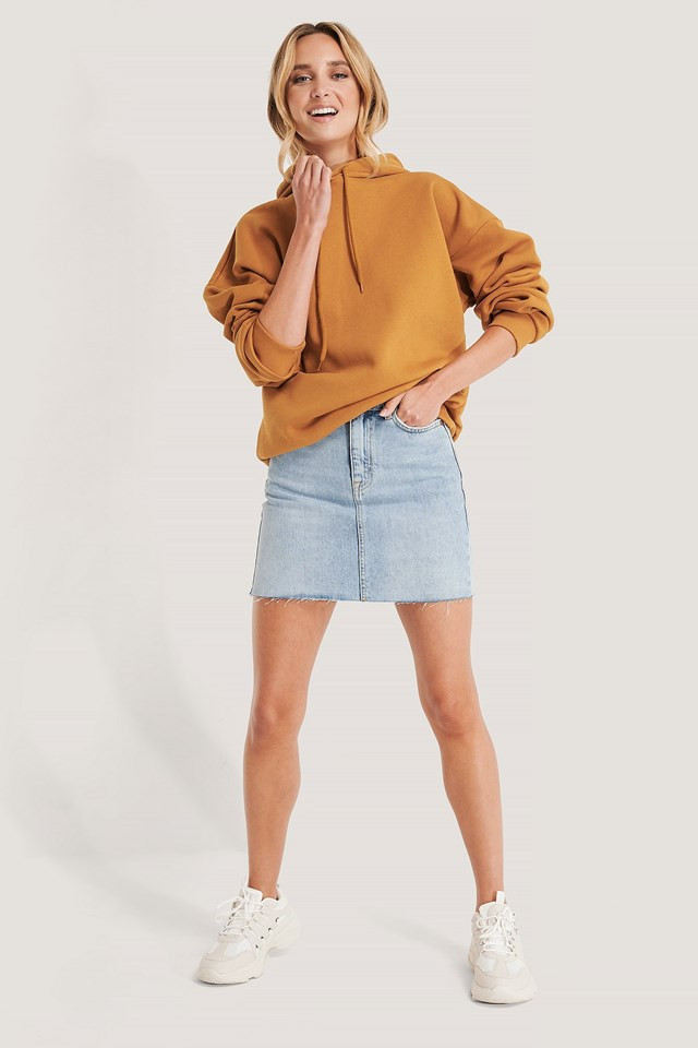 Mallory Denim Skirt Outfit.