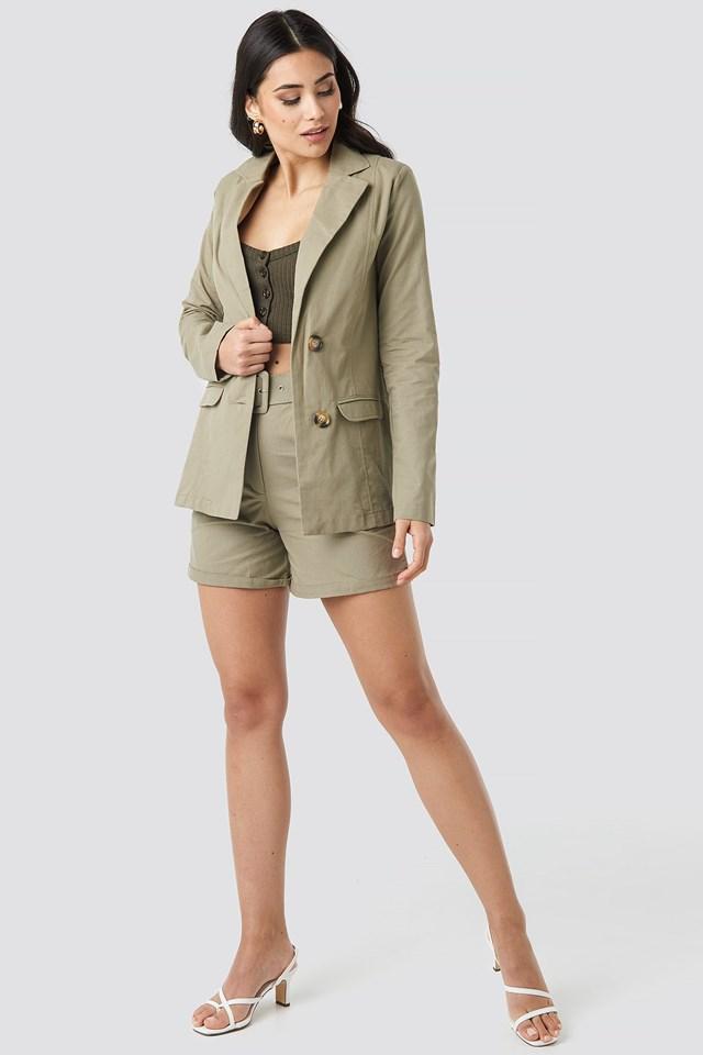 Yol Pocket Detailed Jacket Outfit.