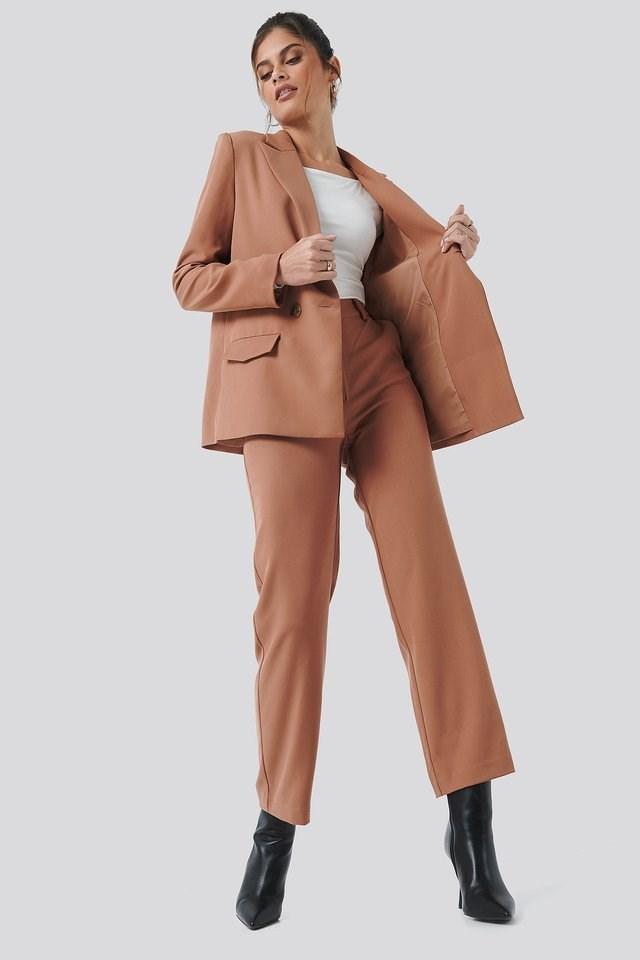 High Waist Suit Pants Outfit.