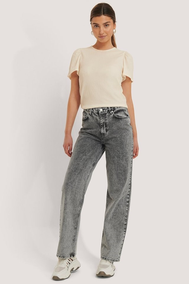 Wide Led Denim Grey Outfit.