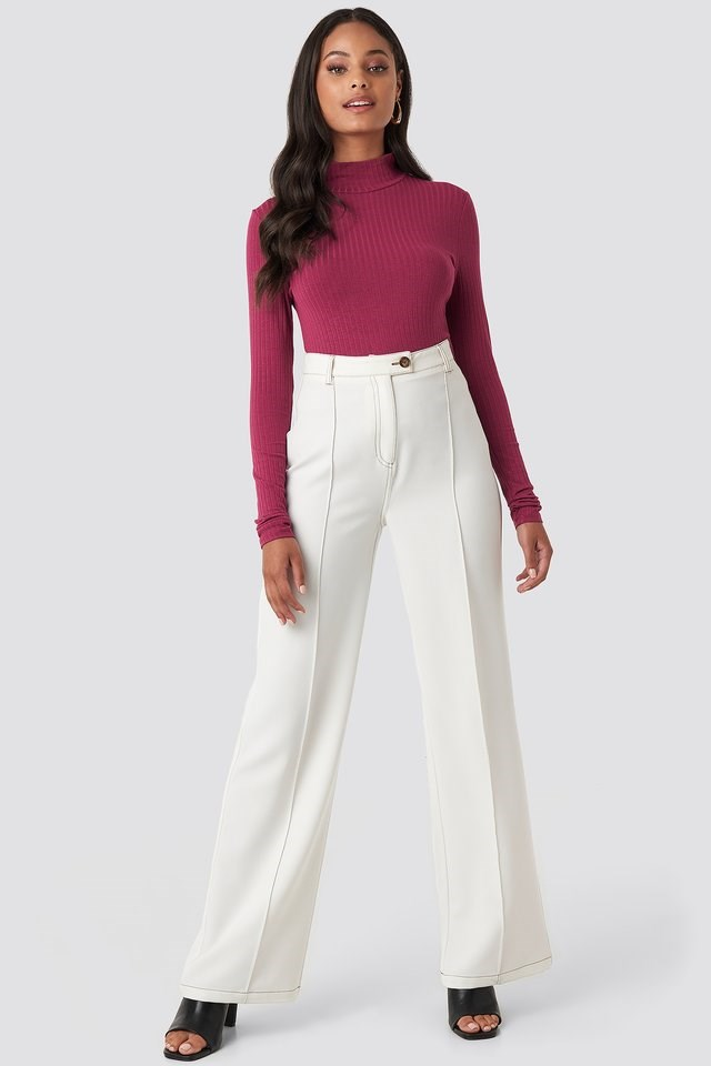 Turtle Neck Long Sleeve Top Outfit.