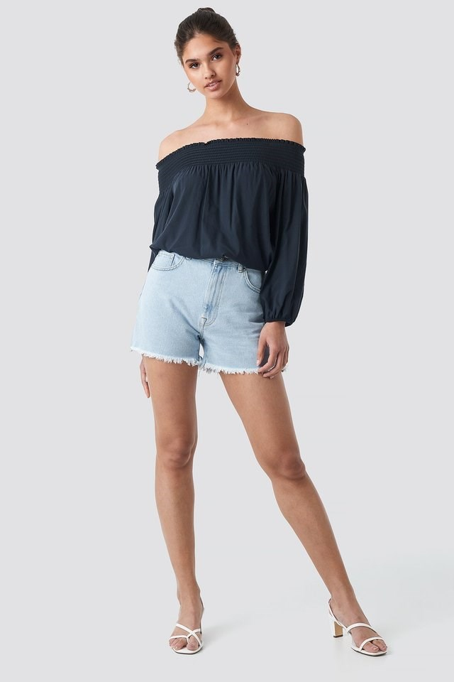 Milla Off Shoulder Blouse Outfit.