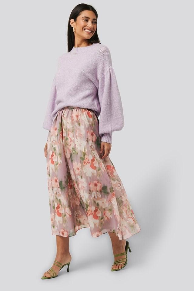 Flowy Chiffon Skirt Outfit.