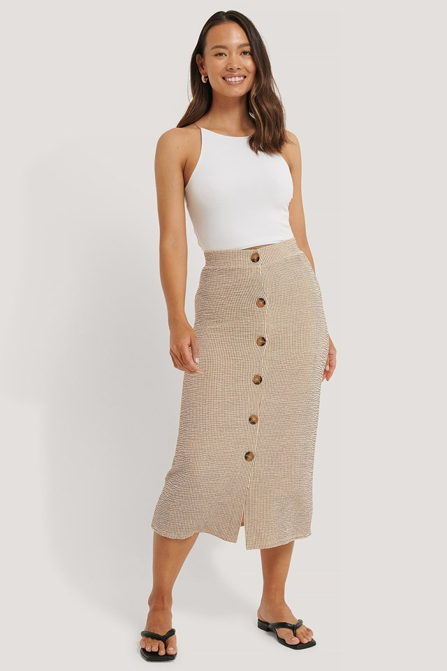 Structured Jersey Skirt Outfit.