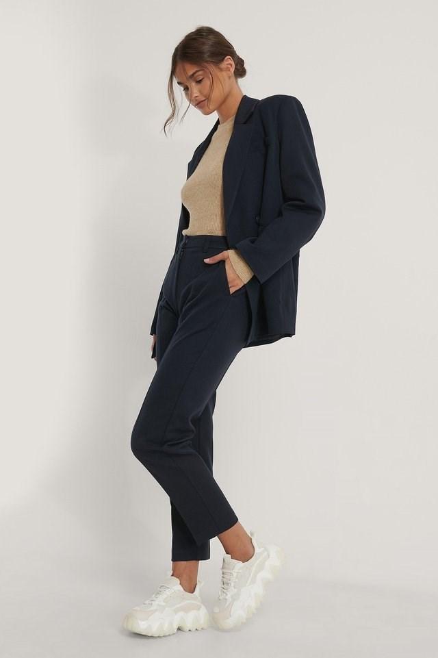 Dark Blue Suit Pants