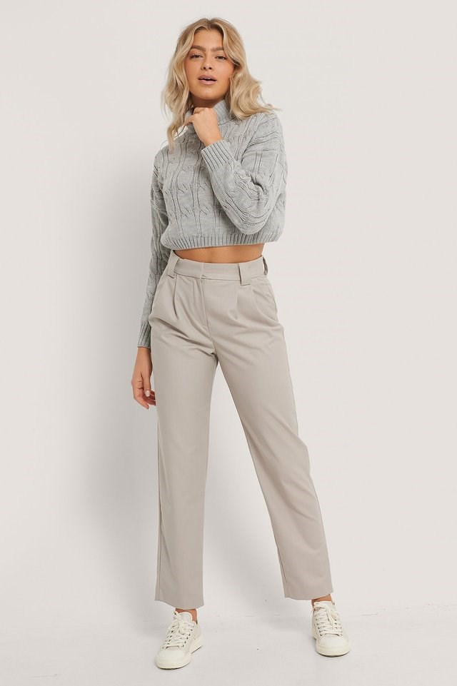 Milla Cropped Sweater Outfit.